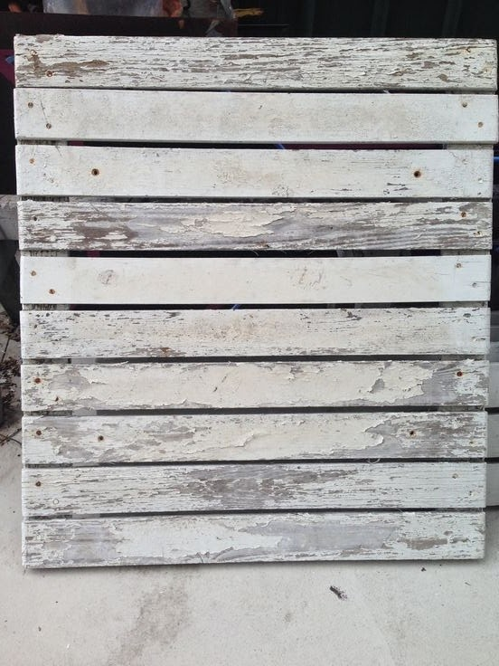 Susan snyder stairway art pallet frame for White painted pallets