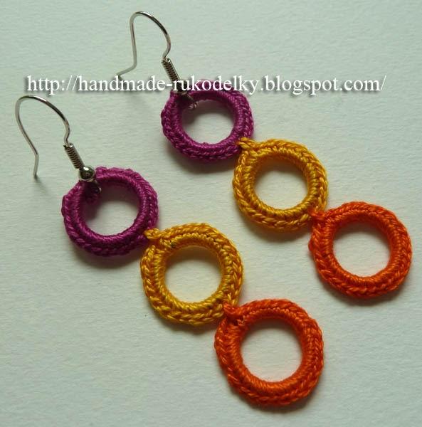Crochet Hook Earrings: RUKODELKY: Crochet Earrings For Beginners 2