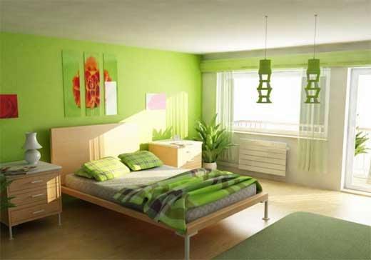 Inspirasi Desain Interior Kamar Tidur Modern dengan Nuansa Hijau