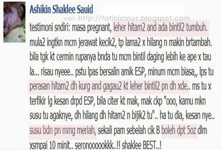 Testimoni ESP Shaklee
