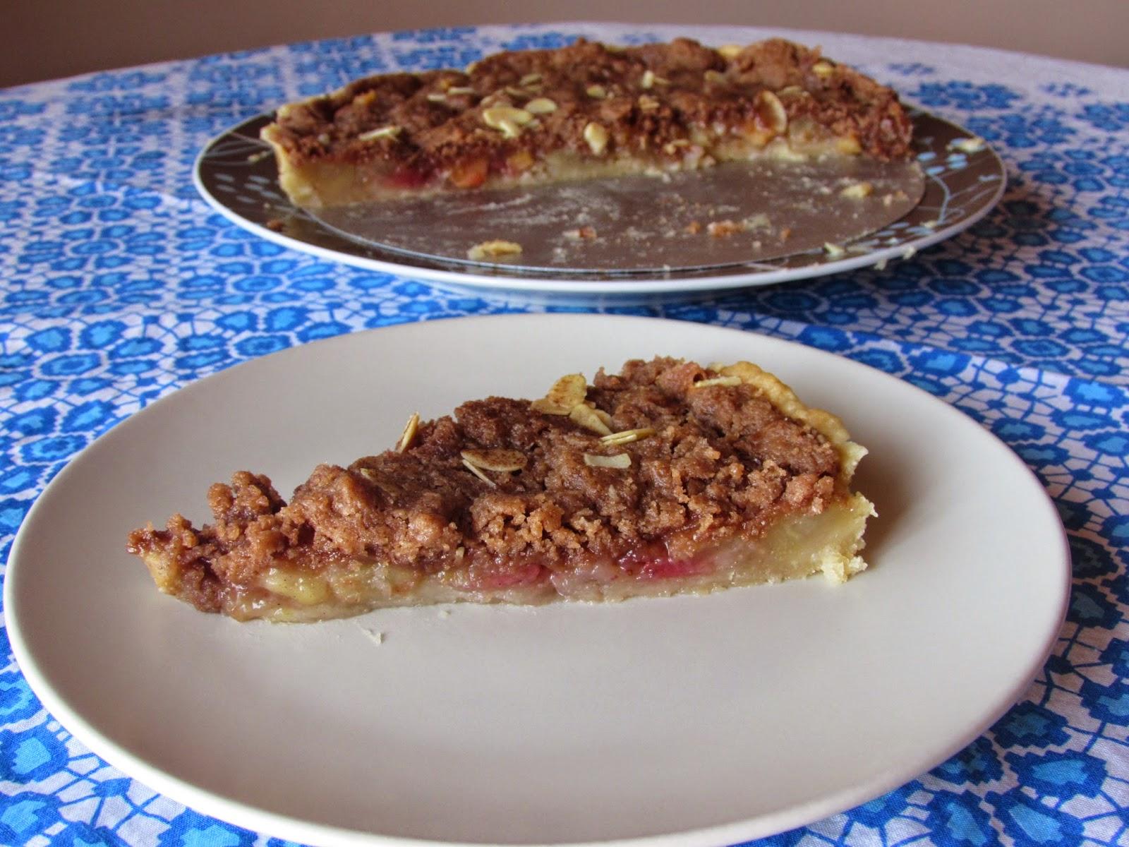 Pastel de fruta y streusel, receta