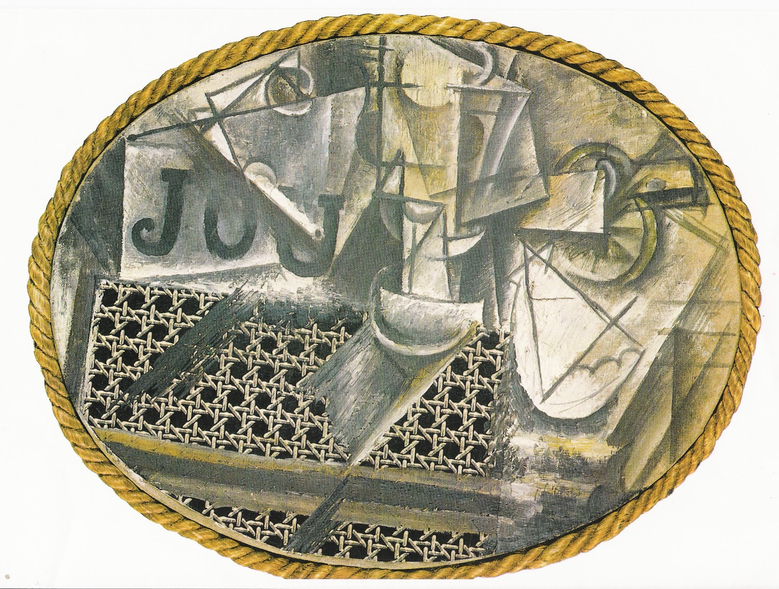 Historia del arte picasso - Picasso nature morte a la chaise cannee ...