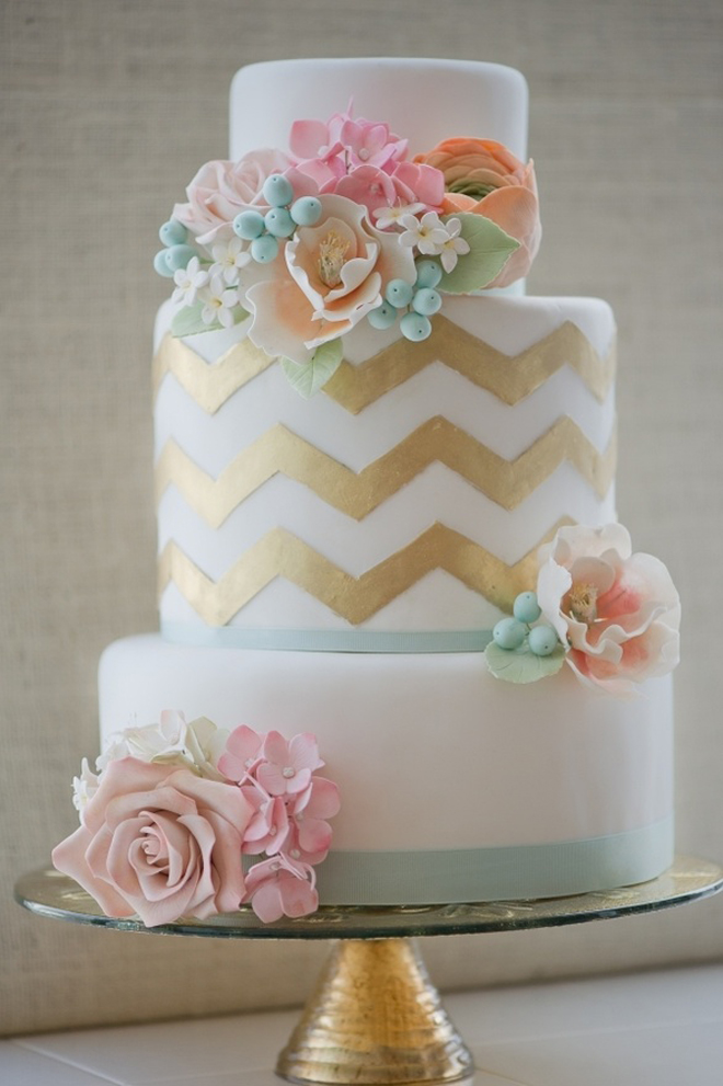 Impressive Gold Chevron Wedding Cake 660 x 991 · 311 kB · jpeg