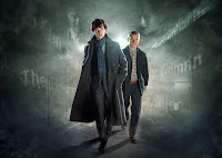 Benedict Cumberbatch and Martin Freeman in Sherlock 2 BBC1