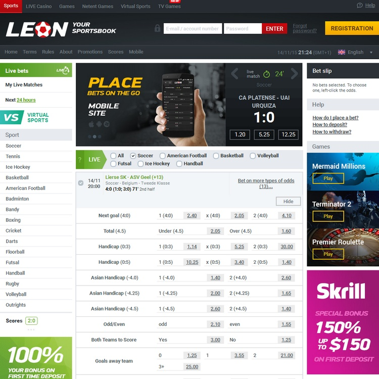 Leonbets Live Betting Offers