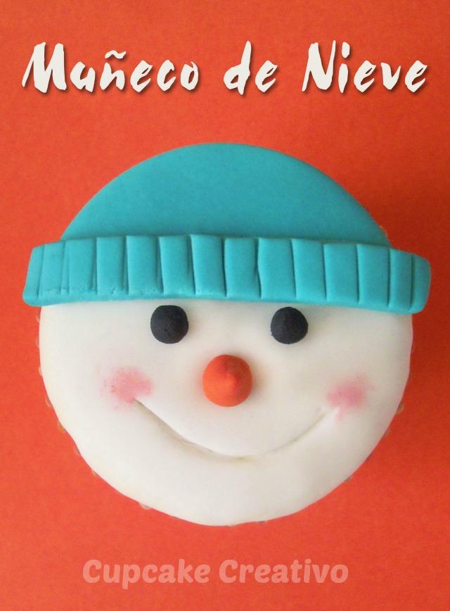 Tutorial Decorar Cupcakes Muñeco de Nieve Navidad