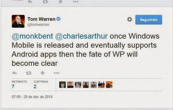 rumor applikasi android bisa di jalankan pada windowsphone 10