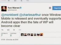 Rumor, applikasi android bisa dijalankan di windowsphone 10