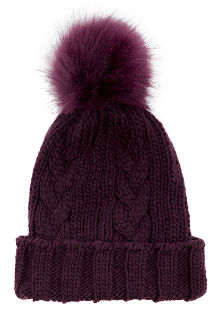 burgundy knit hat, fluffy pom hat warehouse,