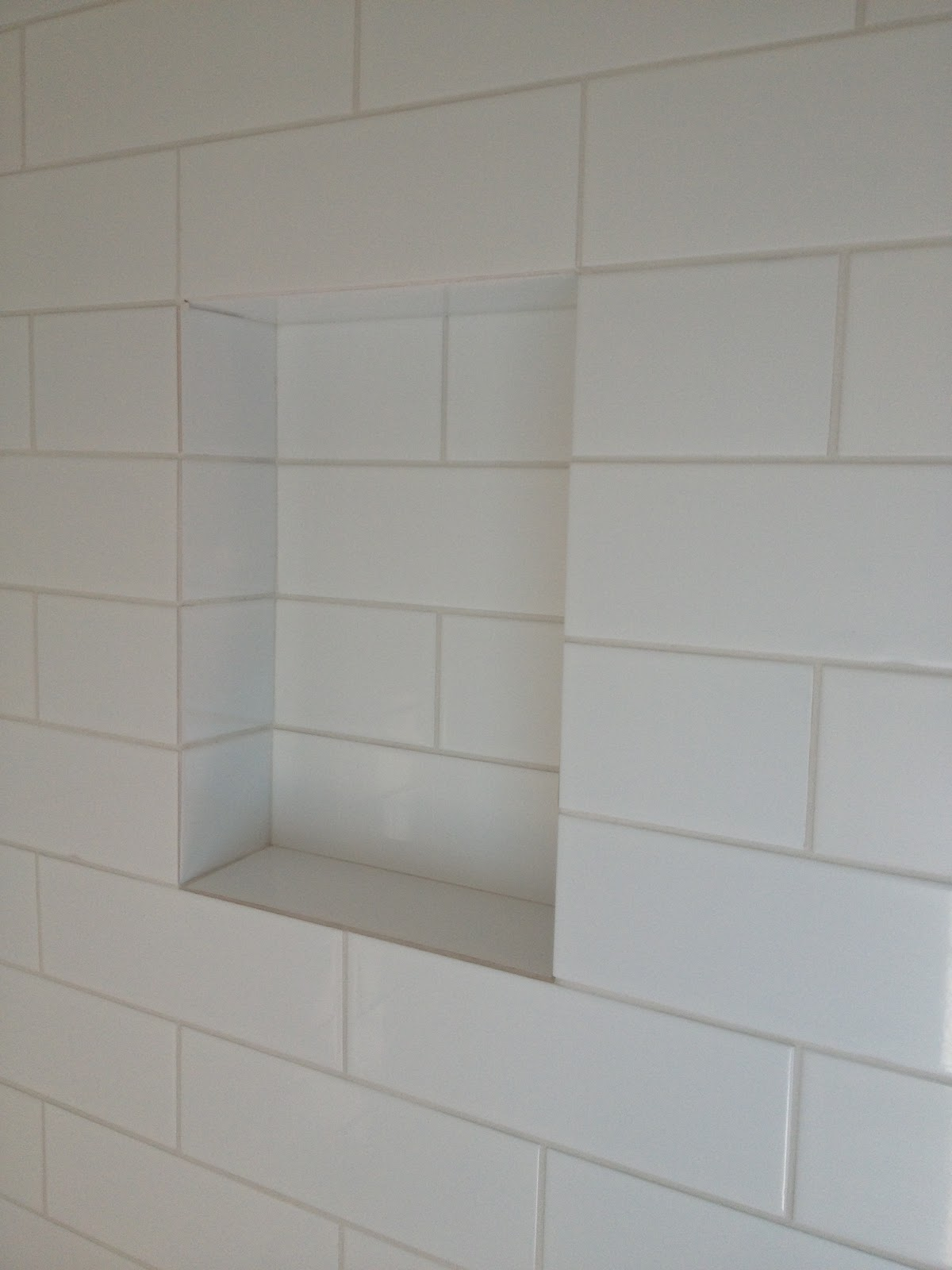 Built In Shampoo Shelf With Gently Sloped Bottom Edge To Prevent Standing  Water   This Was All Included In Our Tile Bid