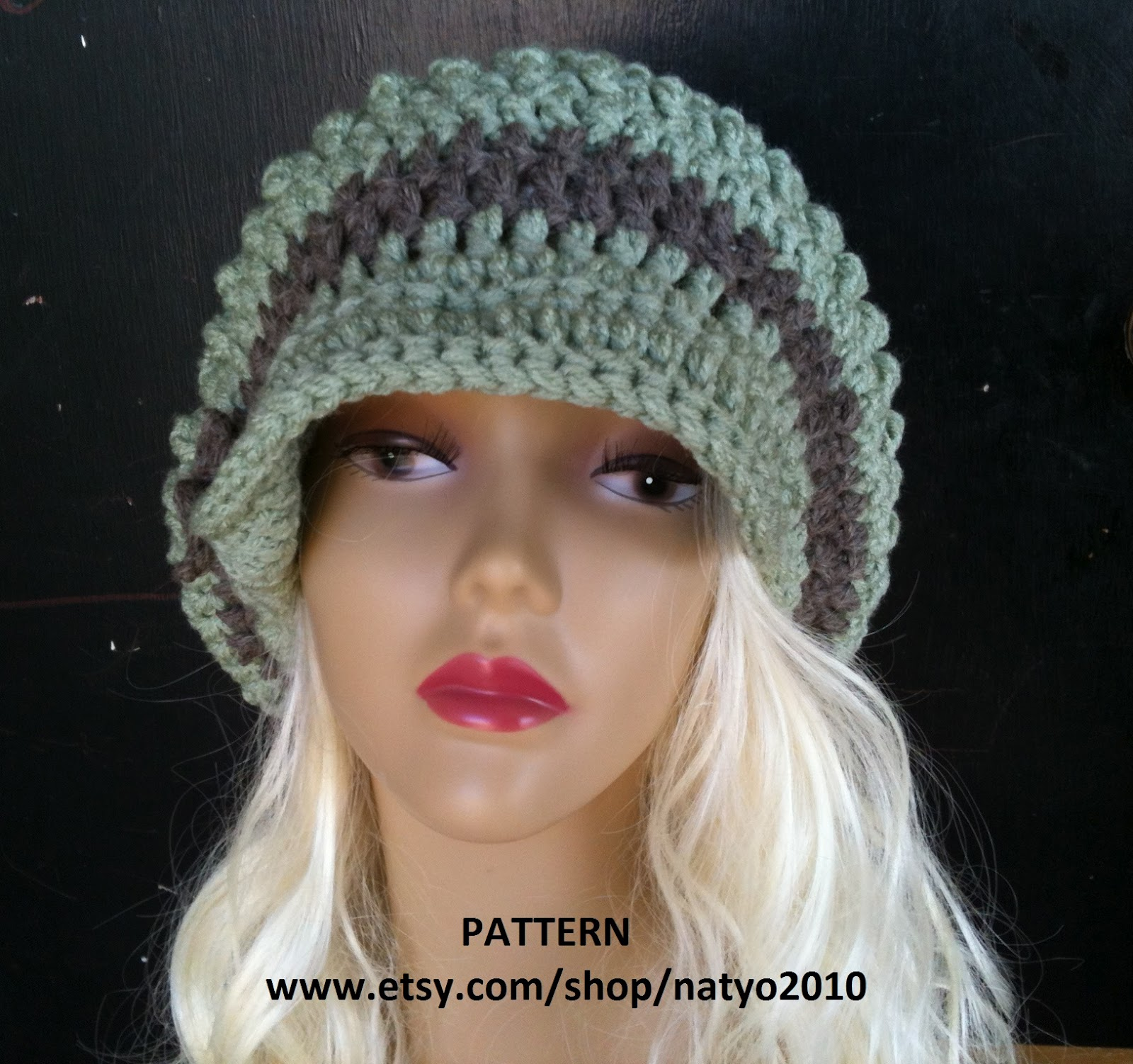 Free Crochet Chunky Newsboy Hat Pattern : Best Patterns: Cloche Hat and Loose Mint Newsboy Hat ...