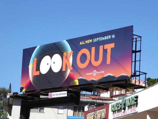 Look Out South Park season 19 billboard