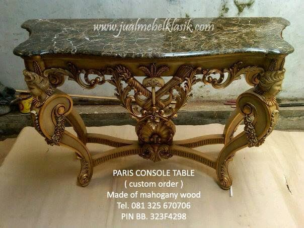 Jual furniture klasik mebel klasik meja konsole klasik mewah meja konsole ukir italian style