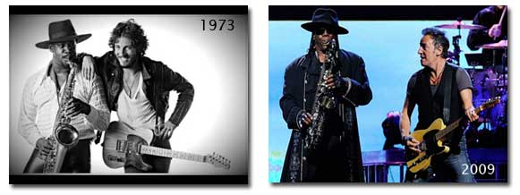 Clarence Clemons and Bruce Springsteen 1973-2009