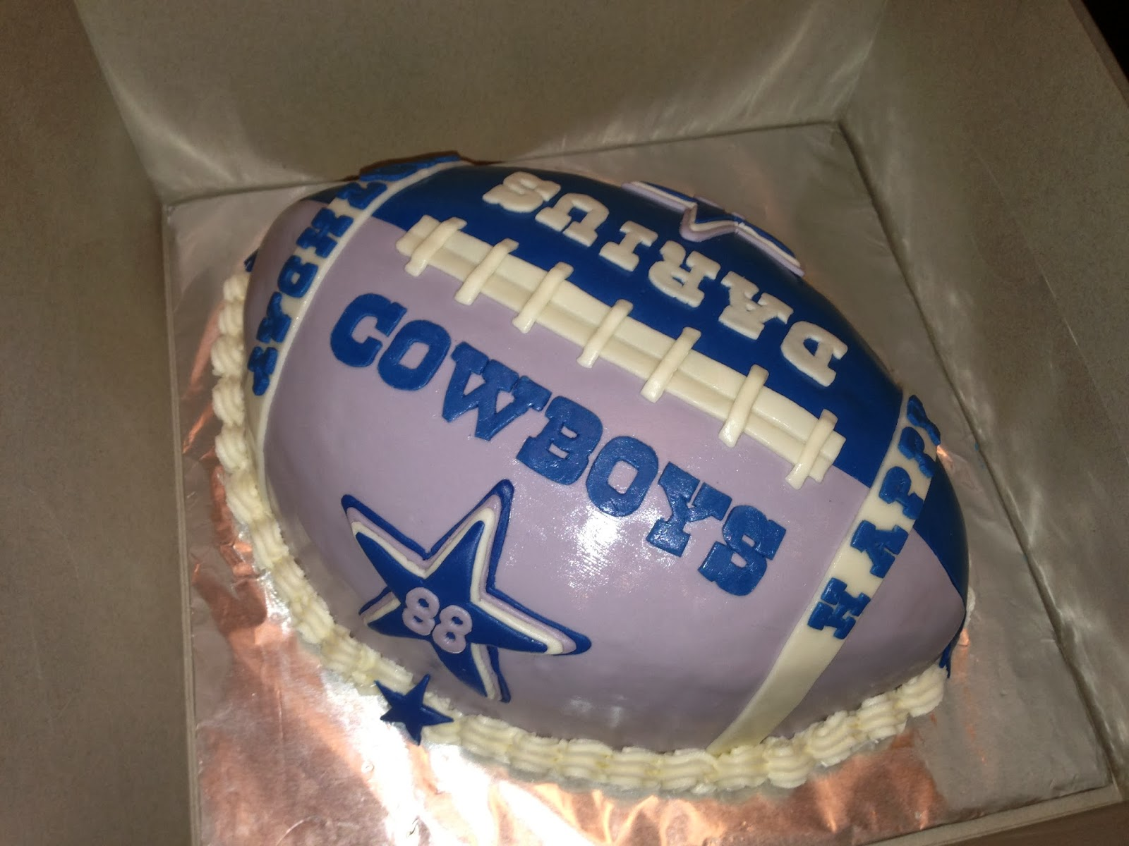 Joyce Gourmet Dallas Cowboys Football Cake