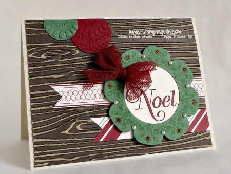 Stampin' Up! Daydream Medallions Wreath Card