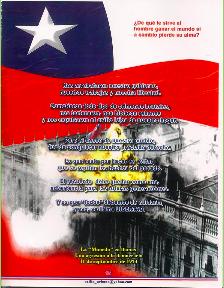 Dulce Patria, recibe los votos con que Chile en tus aras juró: Qué, o la tumba será de los libres,