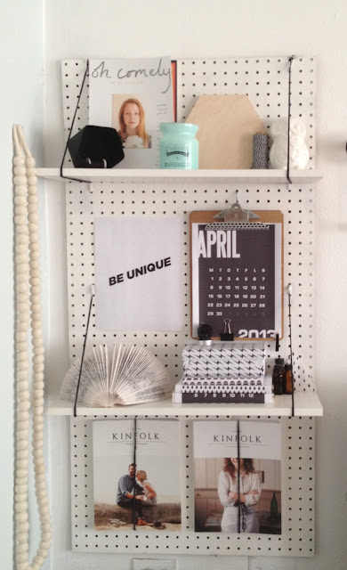 Functional Decor Ideas - Pegboard Shelving