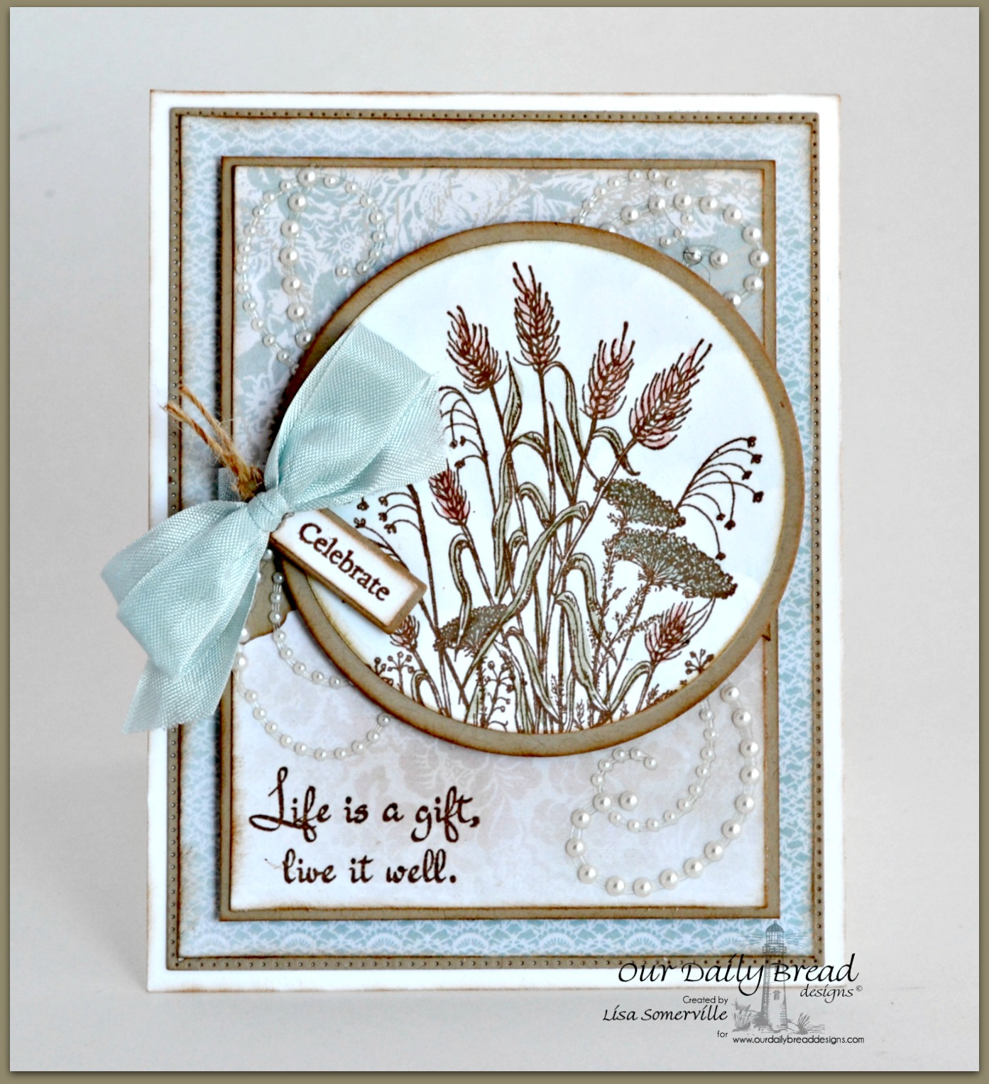 Stamps - Our Daily Bread Designs Life is a Gift, Mini Tag Sentiments, ODBD Custom Beautiful Borders Dies, ODBD Custom Mini Tags Dies, ODBD Custom Circle Ornaments Dies, ODBD Custom Matting Circles Dies, ODBD Shabby Rose Paper Collection, ODBD Custom Flourished Star Pattern Die