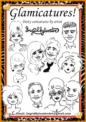 Glamicatures-TM - North East wedding entertainment & Party caricatures that make you look good - Ingrid Sylvestre North East UK caricaturist