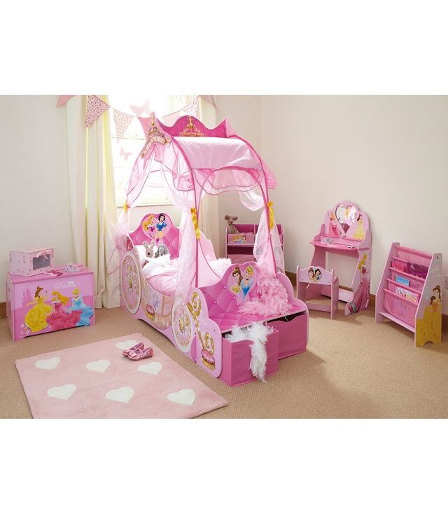 chambres en rose princesse disney b b et d coration. Black Bedroom Furniture Sets. Home Design Ideas