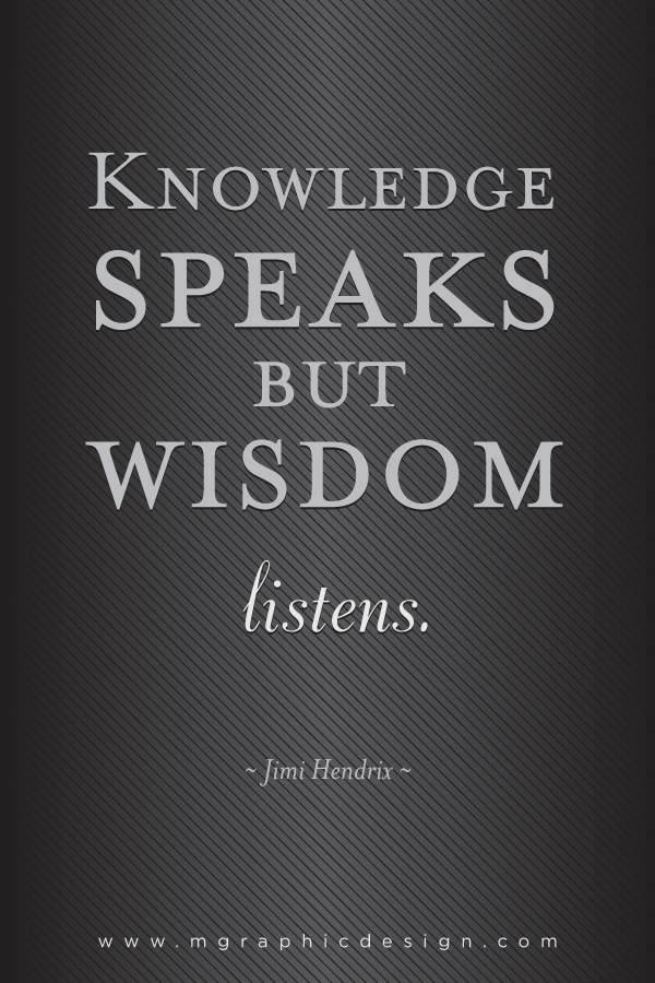 knowledge speaks but - photo #8