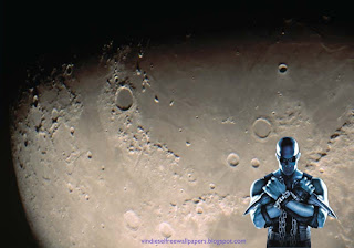 Wallpaper of Vin Diesel Action Movie Actor Chronicles of Riddick Movie in Moon Light Desktop Wallpaper