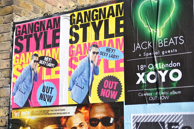 Shoreditch Chance Lane Gangnam Style poster