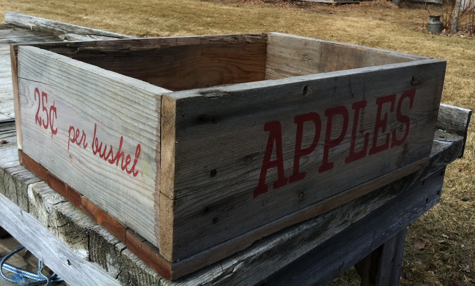 Airloom framing signs furniture aerial photography for How to make apple crates