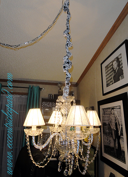 chandelier chain cord cover chandelier cord cover chain cover for lighting by lightlady brown. Black Bedroom Furniture Sets. Home Design Ideas