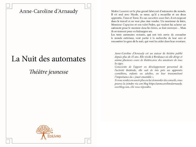 anne-Caroline d'arnaudy Theatre jeunesse automate