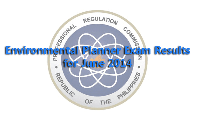Environmental Planner Exam Results for June 2014