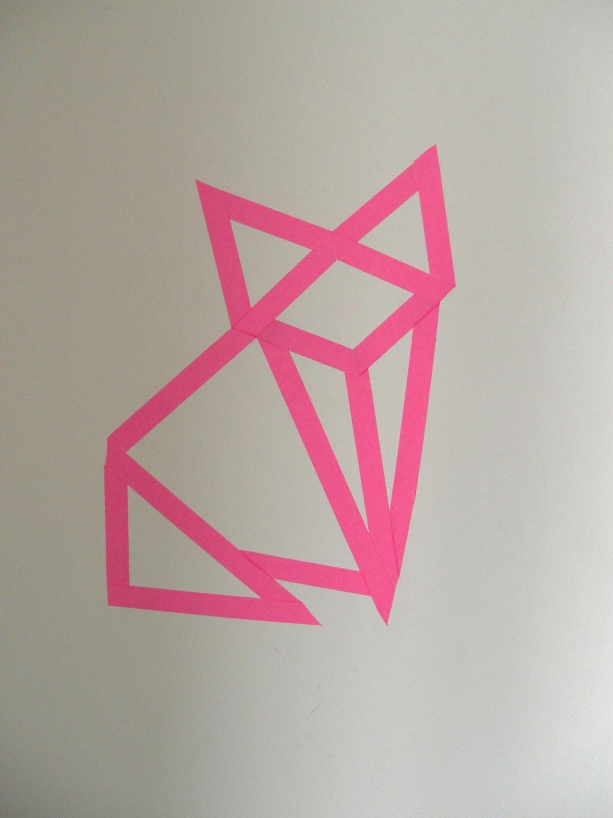 gabulle in wonderland diy renard origami en masking. Black Bedroom Furniture Sets. Home Design Ideas