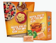 Monk Fruit In The Raw Bakers Bag and a box of packets