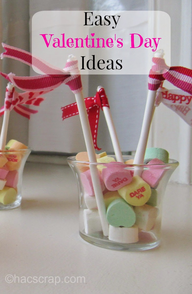 Candy Heart Decorations with Ribbon Flags