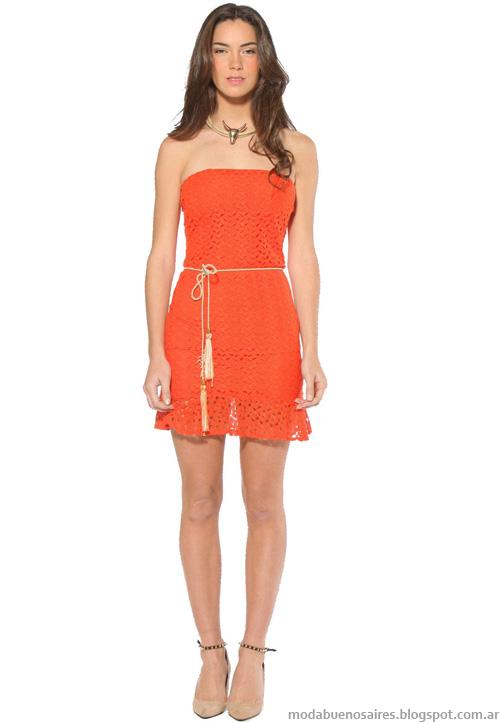 Moda vestidos 2014 colección Melocotón.