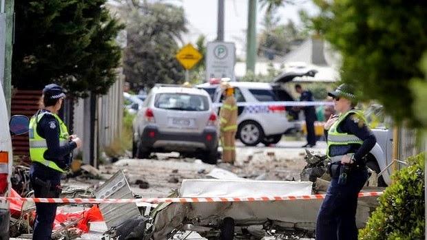 Plane crash in Melbourne