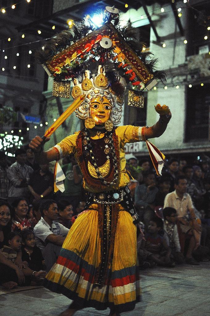 Nyetamaru Ajima masked dance in Nepal