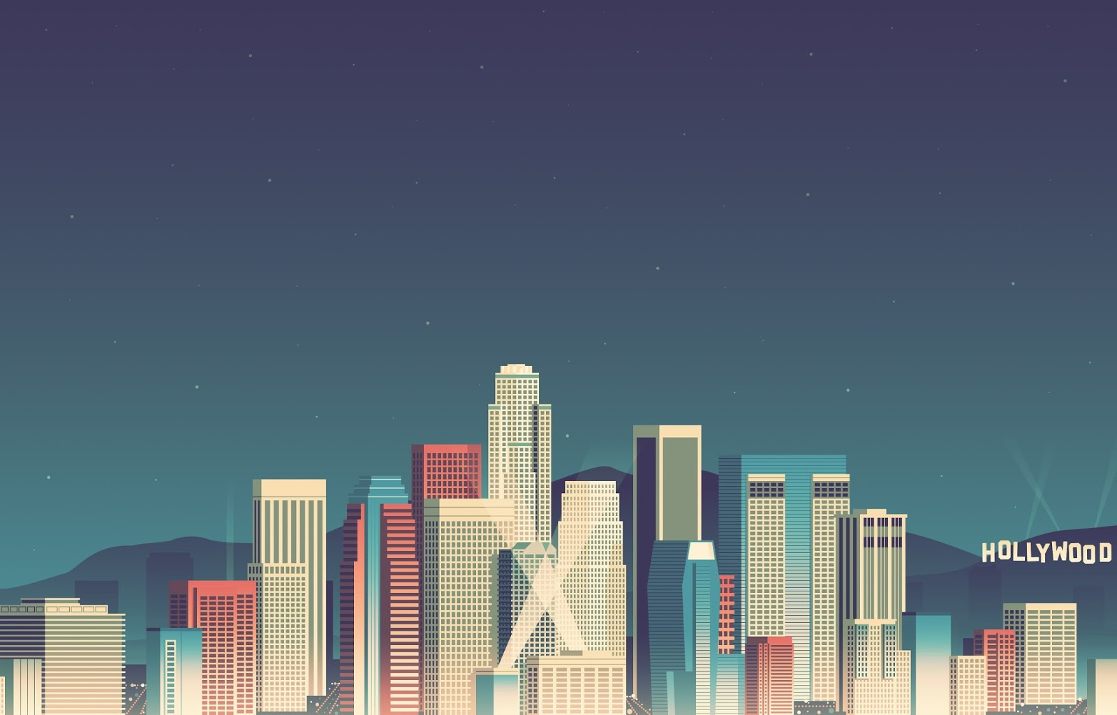 8 bit city wallpaper
