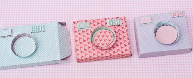 Kamera-minialbum selbst basteln i cool paper camera minibook album