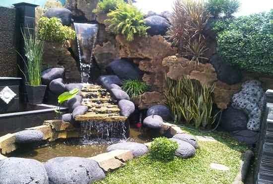 inspirasi desain taman minimalis batu alam rumah minimalis