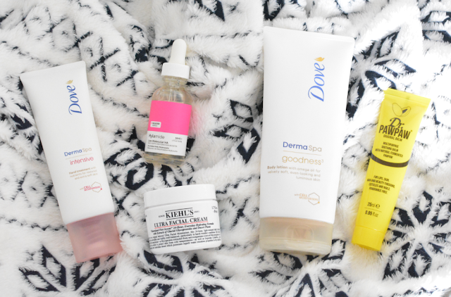 Autumn/Winter, Skincare, Beauty, Kiehls, Hylamide, Dr paw paw, Dove, Dove derma spa. Kiehls ultra facial cream, Review,