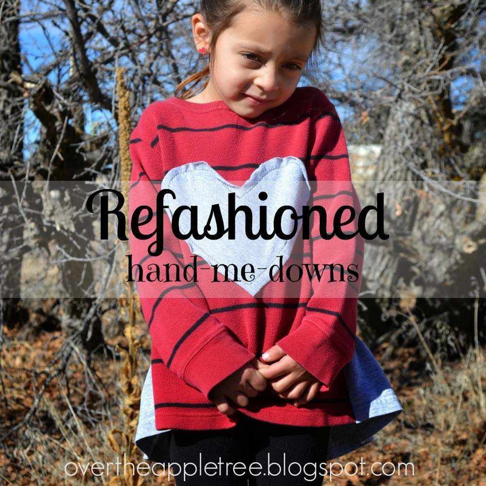 Hand-me-down refashioning by Over The Apple Tree