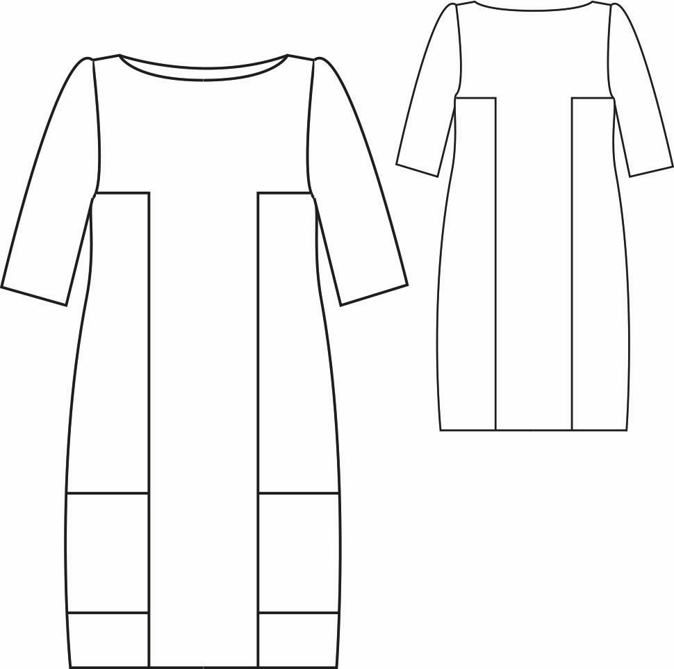 Patrón gratis vestido de bloques - yo elijo Coser