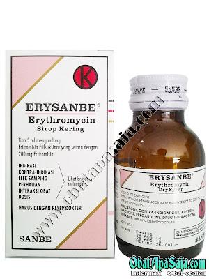 ERYSANBE (Erythromycin) Indikasi Dosis dan Harga