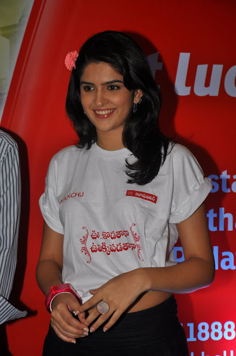 deeksha seth at inorbit mall for ukup promotion actress pics