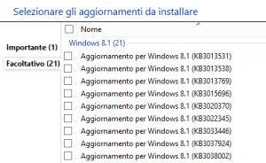 aggiornamenti facoltativi windows