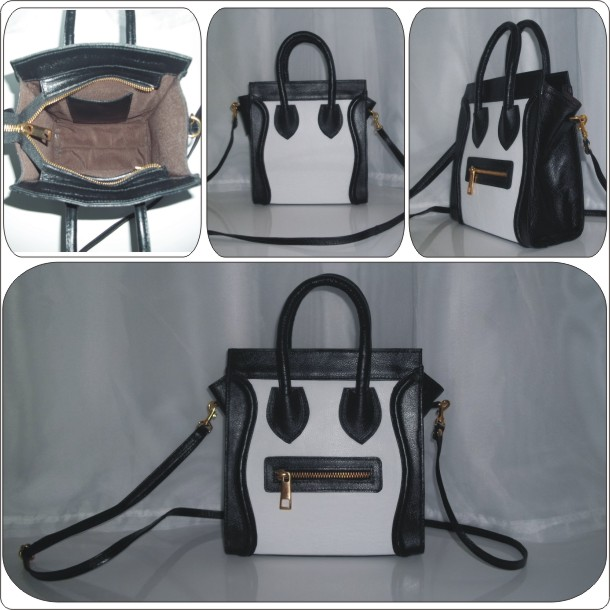 Bolsa em couro liso Celine Luggage Inspired: Cód. AB1001