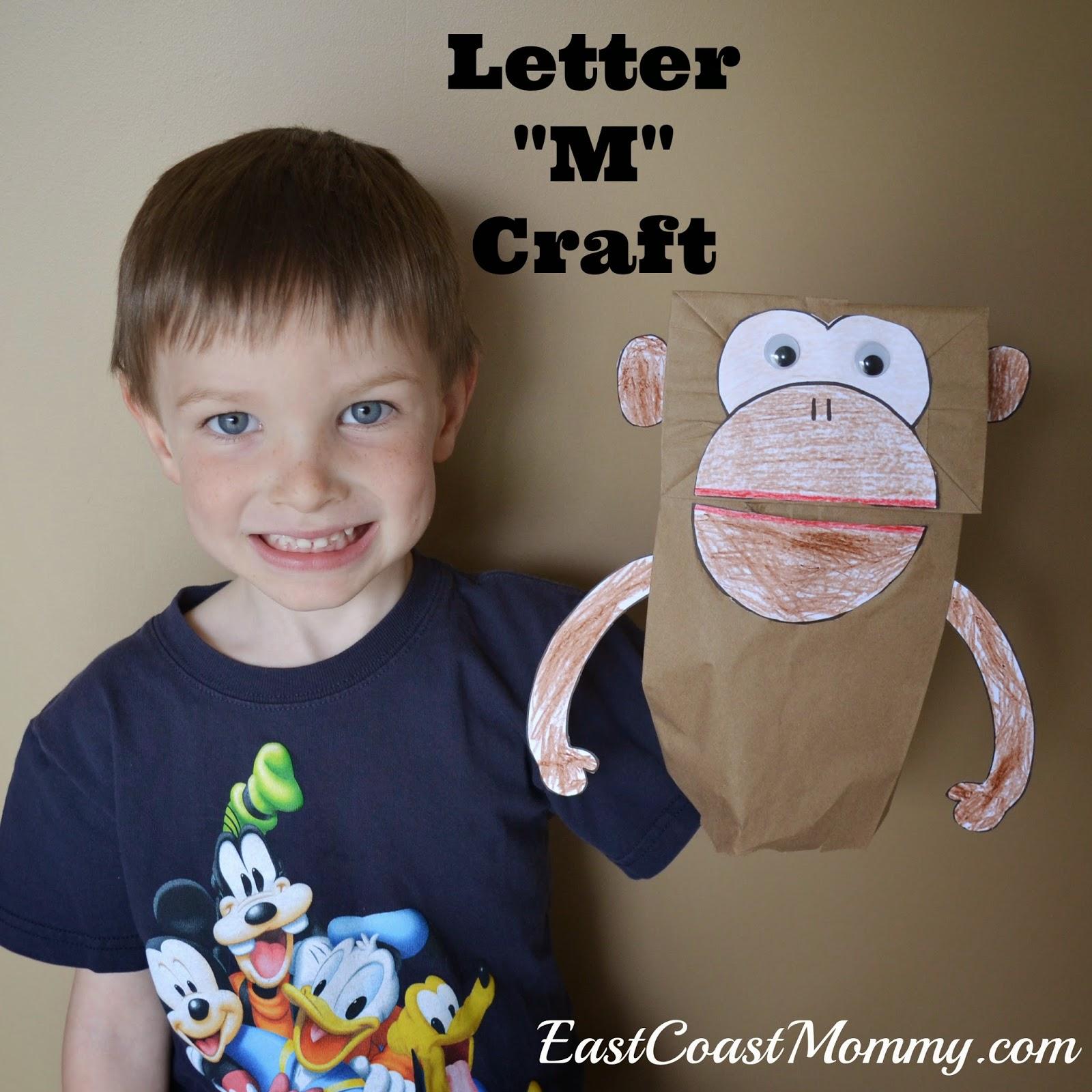 East Coast Mommy: Alphabet Craft - Letter M