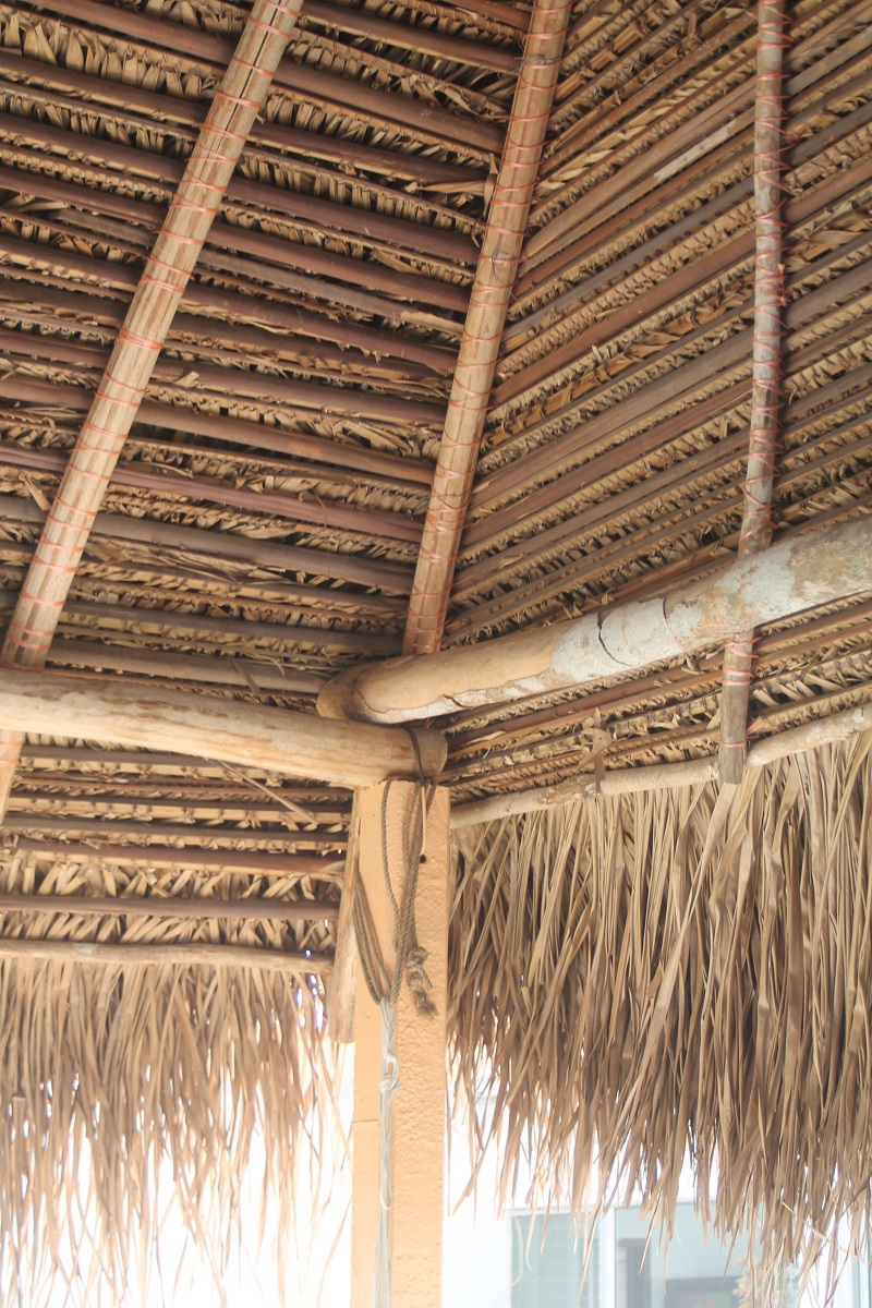 Inside Corner Of Thatched Roof